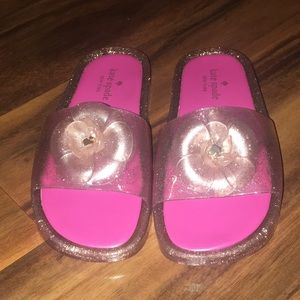 NWOT Kate Spade Splash Glitter Slides